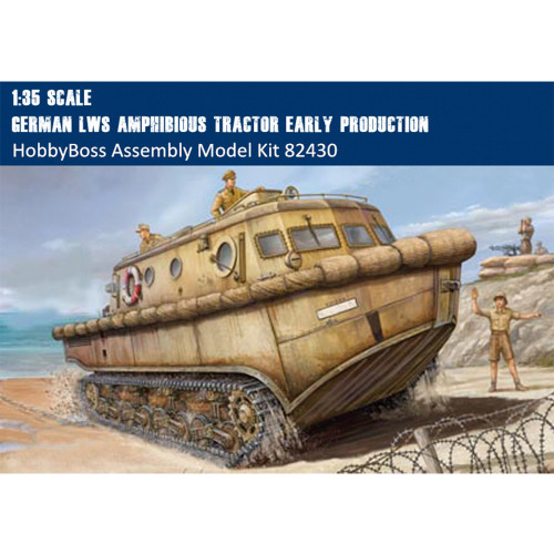 HobbyBoss 82430 1/35 German LWS Amphibious Tractor Early Production Military Plastic Assembly Model Kit