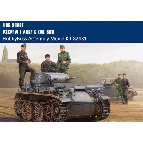 HobbyBoss 82431 1/35 Scale German PzKpfw I Ausf C (VK 601) Tank Military Plastic Assembly Model Kit