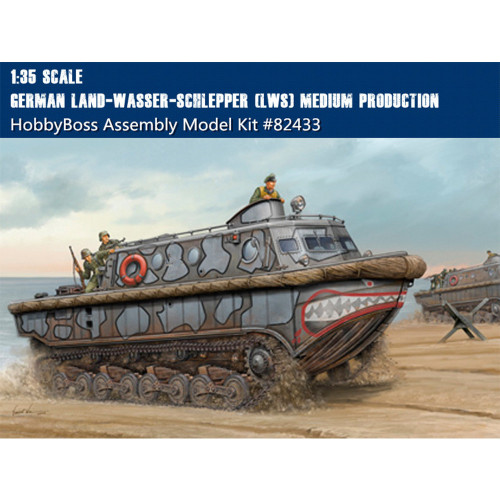 HobbyBoss 82433 1/35 Scale German Land-Wasser-Schlepper (LWS) Medium Production Plastic Assembly Model