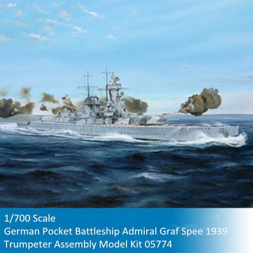 Trumpeter 05774 1/700 Scale German Pocket Battleship(Panzer Schiff) Admiral Graf Spee 1939 Plastic Assembly Model Kit