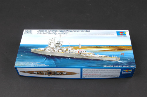 Trumpeter 05773 1/700 Scale German Pocket Battleship(Panzer Schiff) Admiral Graf Spee 1937 Plastic Assembly Model Kit