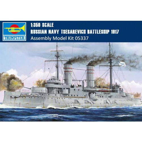 Trumpeter 05337 1/350 Scale Russian Navy Tsesarevich Battleship 1917 Military Plastic Assembly Model Kit