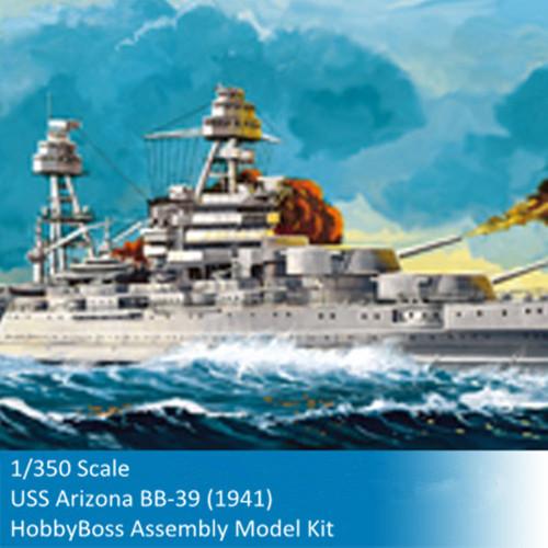 HobbyBoss 86501 1/350 Scale USS Arizona BB-39 (1941) Military Plastic Assembly Model Building Kits