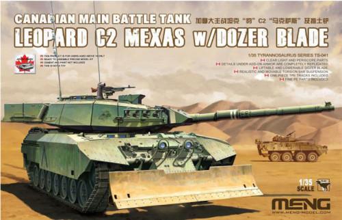 Meng TS-041 1/35 Scale Canadian MBT Leopard C2 MEXAS w/Dozer Blade Tank Assembly Model Kit