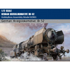 HobbyBoss 82901 1/72 Scale German Kriegslokomotive BR-52 Military Plastic Assembly Model Building Kit