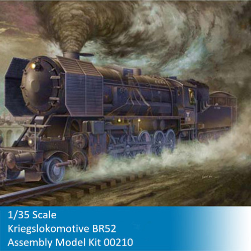 Trumpeter 00210 1/35 Scale WWII German Kriegslokomotive BR-52 Military Plastic Assembly Model Kit