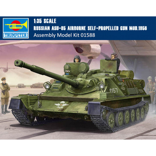 Trumpeter 01588 1/35 Scale Russian ASU-85 Airborne Self-propelled Gun Mod.1956 Assembly Model Kits