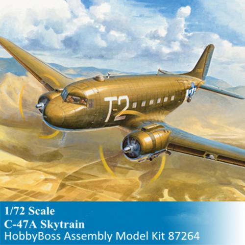 HobbyBoss 87264 1/72 Scale C-47A Skytrain Military Plastic Aircraft Assembly Model Building Kits