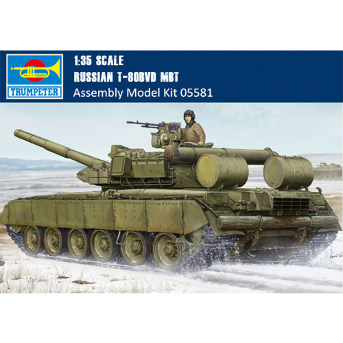 Trumpeter 05581 1/35 Scale Russian T-80BVD Main Battle Tank Armor Plastic Assembly Model Kits