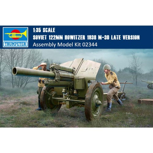 Trumpeter 02344 1/35 Scale Soviet 122mm Howitzer 1938 M-30 Late Version Military Assembly Model Kits