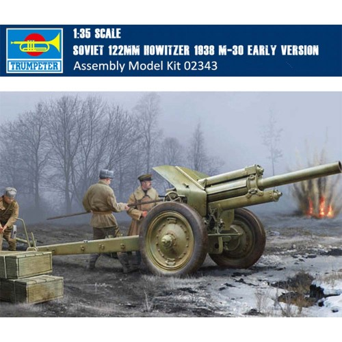 Trumpeter 02343 1/35 Scale Soviet 122mm Howitzer 1938 M-30 Early Version Military Assembly Model Kits