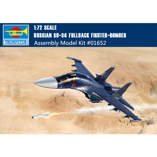 Trumpeter 01652 1/72 Scale Russian Su-34 Fullback Fighter-Bomber Military Plastic Aircraft Assembly Model Kits