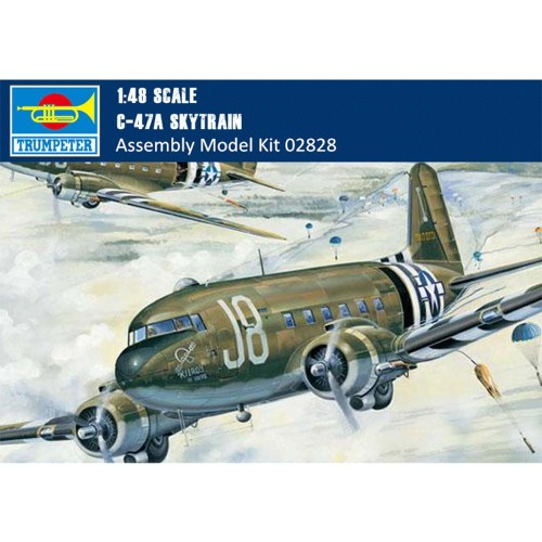 Trumpeter 02828 1/48 Scale C-47A Skytrain Military Plastic Aircraft Assembly Model Kit