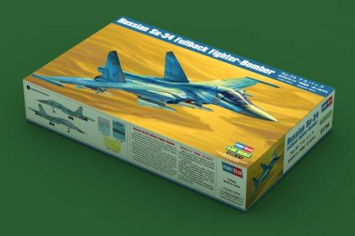 HobbyBoss 81756 1/48 Scale Russian Su-34 Fullback Fighter-Bomber Military Plastic Assembly Model Kit