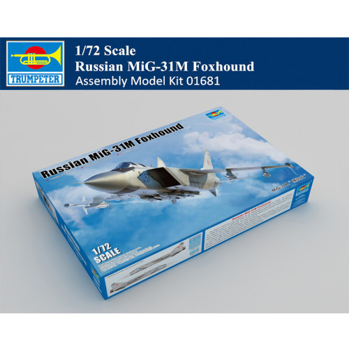 Trumpeter 01681 1/72 Scale Russian MiG-31M Foxhound Military Plastic Aircraft Assembly Model Kit