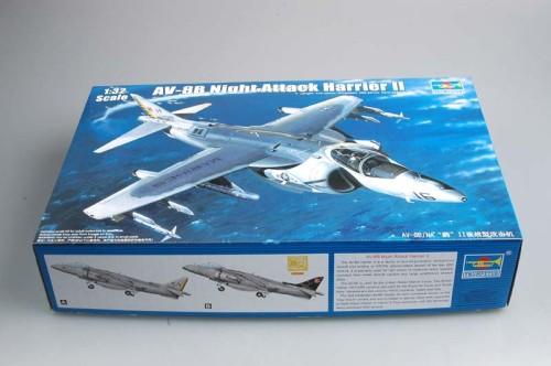 Trumpeter 02285 1/32 Scale AV-8B Night Attack Harrier II Military Plastic Aircraft Assembly Model Kit