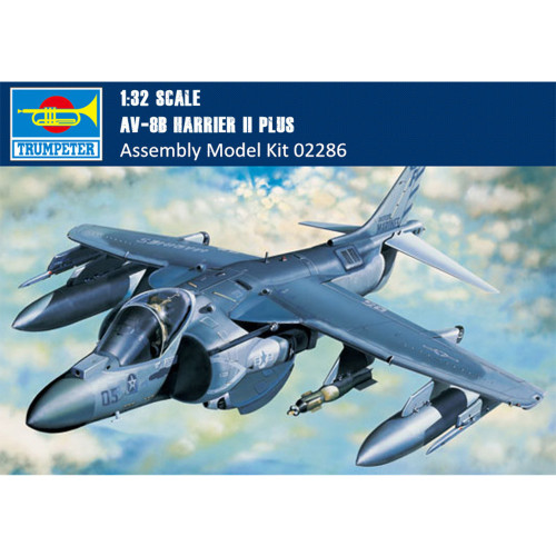Trumpeter 02286 1/32 Scale AV-8B Harrier II Plus Military Plastic Aircraft Assembly Model Kit