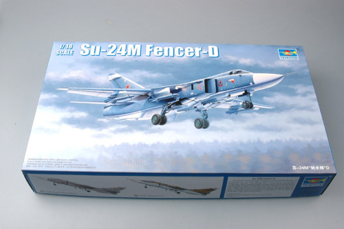 Trumpeter 02835 1/48 Scale Su-24M Fencer-D Military Plastic Aircraft Assembly Model Kits