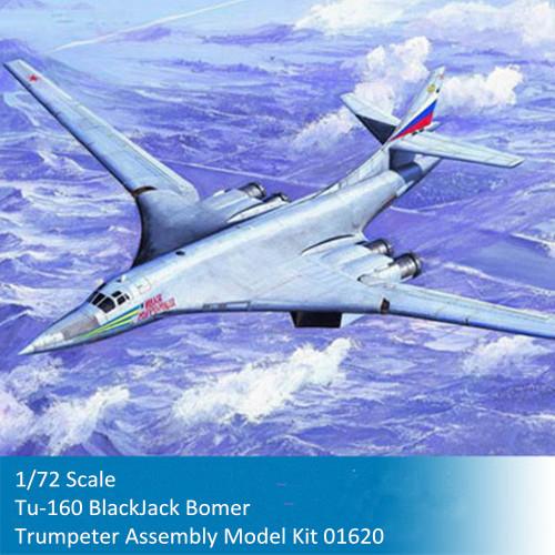 Trumpeter 01620 1/72 Scale Tu-160 BlackJack Bomer Military Plastic Aircraft Assembly Model Kit