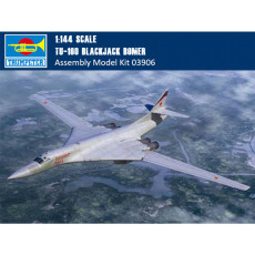 Trumpeter 03906 1/144 Scale Tu-160 BlackJack Bomer Military Plastic Aircraft Assembly Model Building Kits