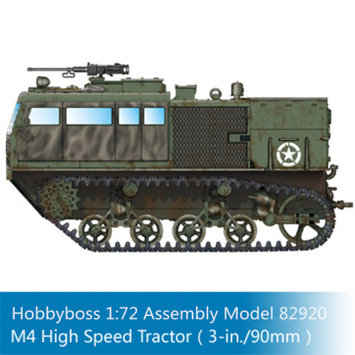 HobbyBoss 82920 1/72 Scale M4 High Speed Tractor (3-in./90mm) Military Plastic Assembly Model Kits