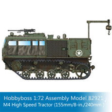 HobbyBoss 82921 1/72 Scale M4 High Speed Tractor (155mm/8-in./240mm) Military Plastic Assembly Model Kits