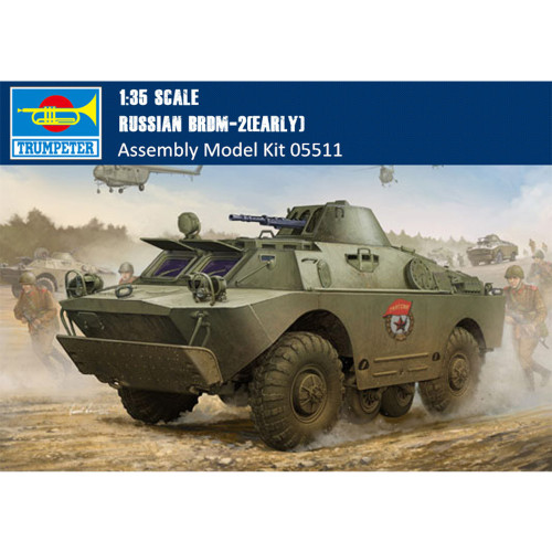 Trumpeter 05511 1/35 Scale Russian BRDM-2 Early Version Military Plastic Assembly Model Kits
