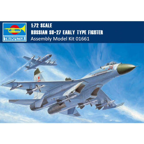 Trumpeter 01661 1/72 Scale Russian Su-27 Early Type Fighter Plastic Assembly Aircraft Model Kits