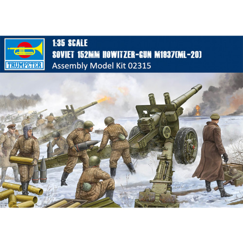 Trumpeter 02315 1/35 Scale Soviet 152mm Howitzer-gun M1937(ML-20) Military Plastic Assembly Model Kits