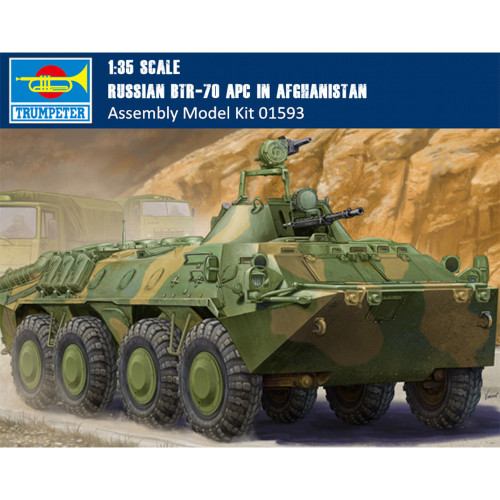 Trumpeter 01593 1/35 Scale Russian BTR-70 APC in Afghanistan Military Assembly Model Building Kits