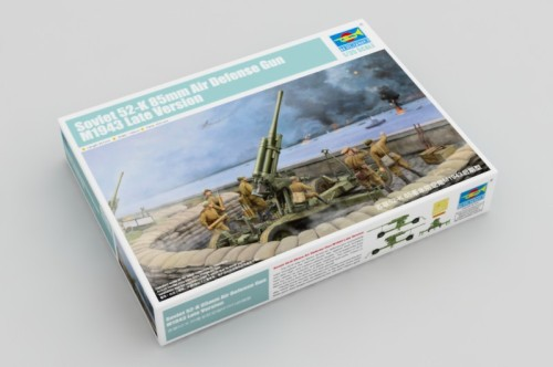 Trumpeter 02342 1/35 Scale Soviet 52-K 85mm Air Defense Gun M1943 Late Version Assembly Model Kits