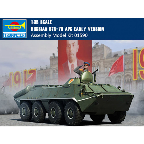 Trumpeter 01590 1/35 Scale Russian BTR-70 APC Early Version Military Plastic Assembly Model Kits