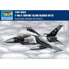 Trumpeter 03911 1/144 Scale F-16A/C Fighting Falcon Block15/30/32 Fighter Military Aircraft Assembly Model