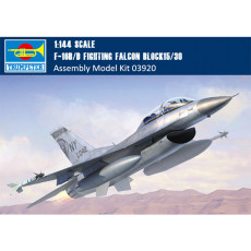 Trumpeter 03920 1/144 Scale F-16B/D Fighting Falcon Block15/30 Fighter Military Aircraft Assembly Model