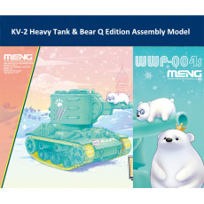 Meng WWP-004s KV-2 Heavy Tank & Bear Character Q Edition Plastic Assembly Model Kit