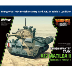 Meng WWT-014 British Infantry Tank A12 Matilda II Q Edition Plastic Assembly Model Kit