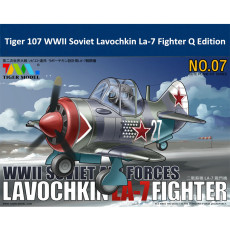 Tiger Model 107 WWII Soviet Lavochkin La-7 Fighter Cute Series Q Edition Plastic Aircraft Assembly Model Kit