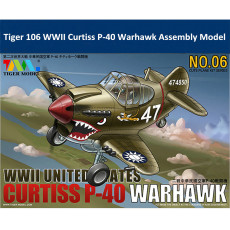 Tiger Model 106 WWII US Curtiss P-40 Warhawk Fighter Cute Series Q Edition Plastic Aircraft Assembly Model Kit