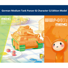 Meng WWP-007s German Medium Tank Panzer & Character Q Edition Plastic Assembly Model Kit