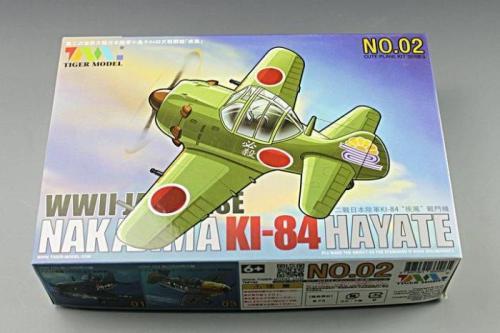 Tiger Model 102 WWII Japanese Nakajima KI-84 Hayate Fighter Cute Series Q Edition Plastic Aircraft Assembly Model Kit