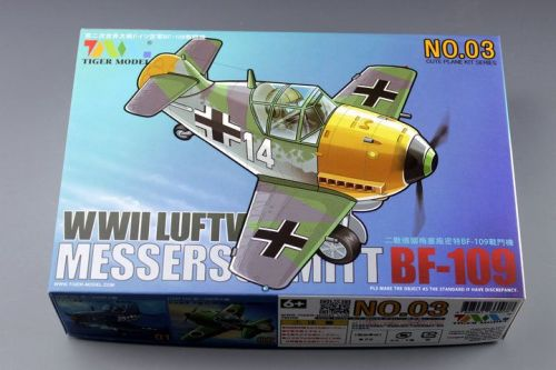 Tiger Model 103 WWII German BF-109 Fighter Cute Series Q Edition Plastic Aircraft Assembly Model Kit