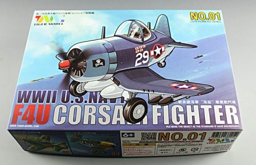 Tiger Model 101 WWII US Navy F4U Corsair Fighter Cute Series Q Edition Plastic Aircraft Assembly Model Kit