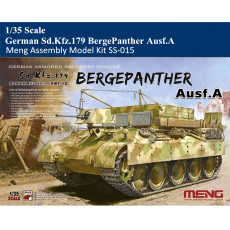 Meng Model SS-015 1/35 Scale German Armored Recovery Vehicle Sd.Kfz.179 BergePanther Ausf.A Assembly Model Kit