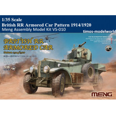 Meng VS-010 1/35 Scale British RR Armored Car Pattern1914/1920 Plastic Assembly Model Kits