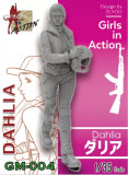 ZLPLA Genuine 1/35 Scale Girls in Action Dahlia Resin Figure Assembly Model Kit GM-004