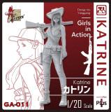 ZLPLA Genuine 1/20 Scale Girls in Action Katrine Resin Figure Assembly Model Kit GA-011