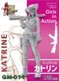 ZLPLA Genuine 1/35 Scale Katrine Girls in Action Resin Figure Assembly Model Kit GM-011