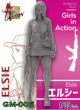 ZLPLA Genuine 1/35 Scale Girls in Action Elsie Resin Figure Assembly Model Kit GM-005