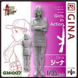 ZLPLA Genuine 1/35 Scale Girls in Action Gina Resin Figure Assembly Model Kit GM-007