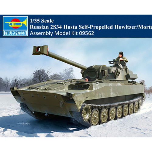 Trumpeter 09562 1/35 Scale Russian 2S34 Hosta Self-Propelled Howitzer/Mortar Plastic Assembly Model Kit